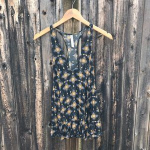 Free People Smocked Sides Cami Tank Top Size XS